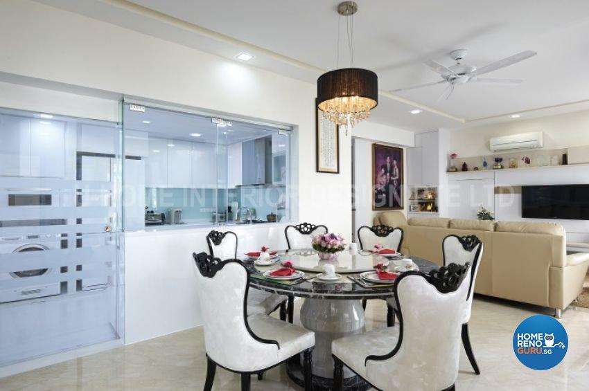 Minimalist, Modern Design - Dining Room - Condominium - Design by U-Home Interior Design Pte Ltd