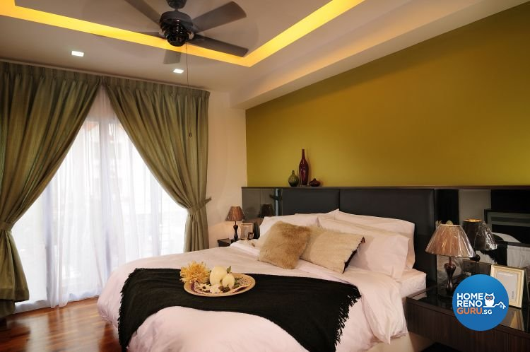 Resort, Tropical Design - Bedroom - Landed House - Design by U-Home Interior Design Pte Ltd