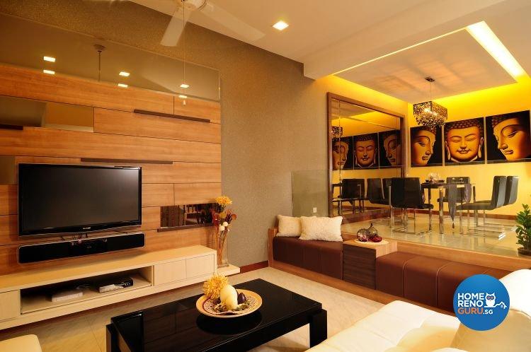 Resort, Tropical Design - Living Room - Landed House - Design by U-Home Interior Design Pte Ltd