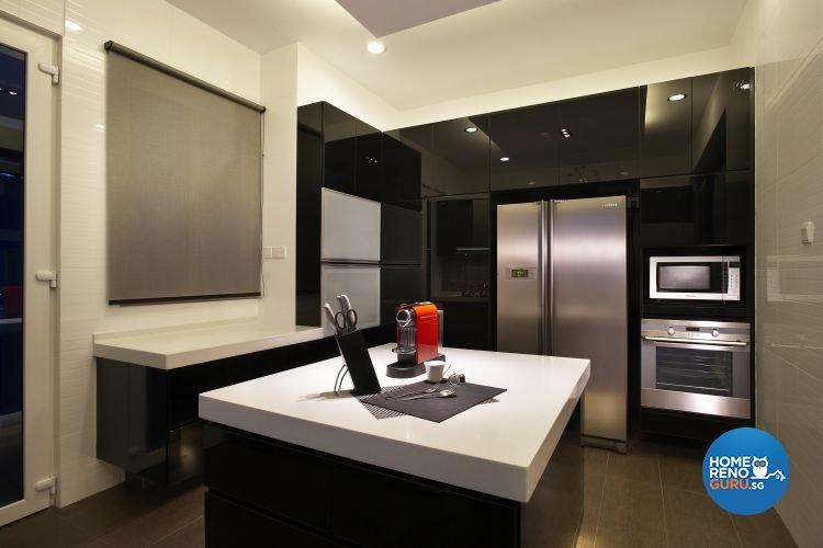 Contemporary, Modern Design - Kitchen - Landed House - Design by U-Home Interior Design Pte Ltd