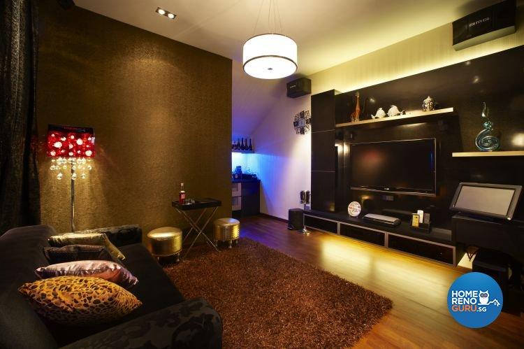 Contemporary, Modern Design - Entertainment Room - Landed House - Design by U-Home Interior Design Pte Ltd