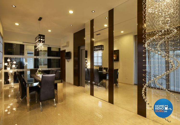 Contemporary, Modern Design - Dining Room - Landed House - Design by U-Home Interior Design Pte Ltd