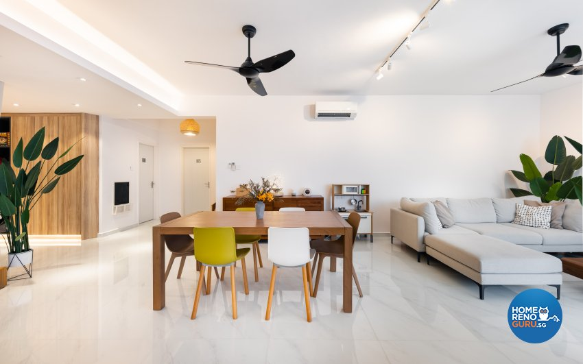 Minimalist, Scandinavian Design - Dining Room - Condominium - Design by U-Home Interior Design Pte Ltd