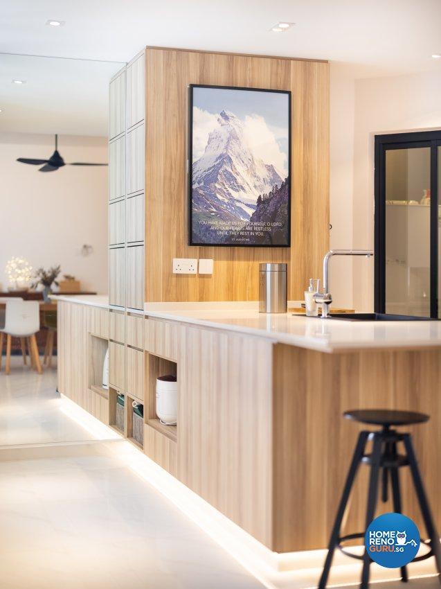 Minimalist, Scandinavian Design - Kitchen - Condominium - Design by U-Home Interior Design Pte Ltd