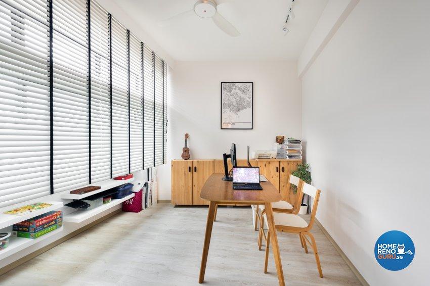 Minimalist, Scandinavian Design - Study Room - Condominium - Design by U-Home Interior Design Pte Ltd
