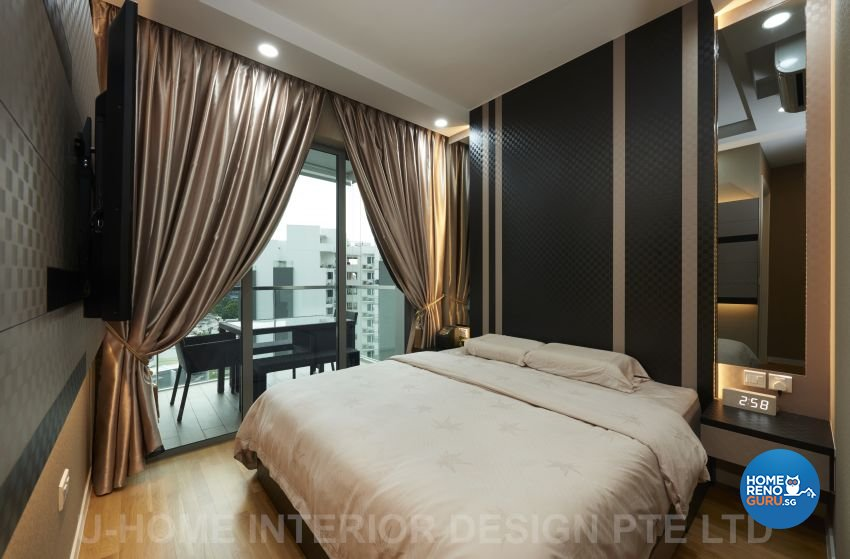 Contemporary, Modern Design - Bedroom - Condominium - Design by U-Home Interior Design Pte Ltd