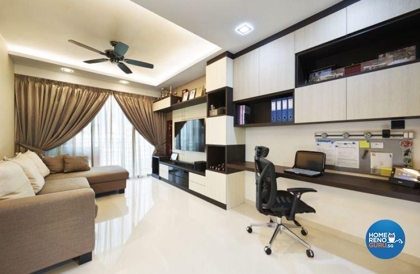 Contemporary, Modern, Scandinavian Design - Study Room - HDB 3 Room - Design by U-Home Interior Design Pte Ltd