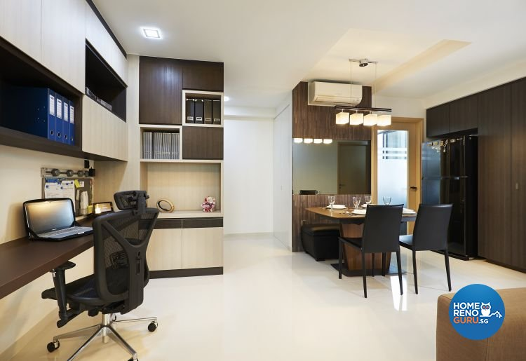 Contemporary, Modern, Scandinavian Design - Dining Room - HDB 3 Room - Design by U-Home Interior Design Pte Ltd
