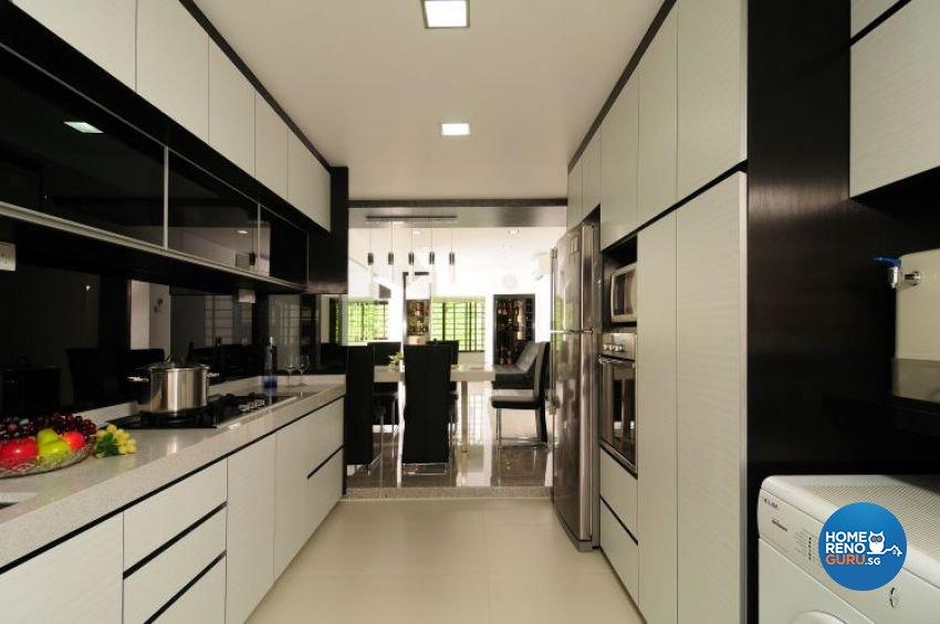 Contemporary, Modern Design - Kitchen - HDB 5 Room - Design by U-Home Interior Design Pte Ltd