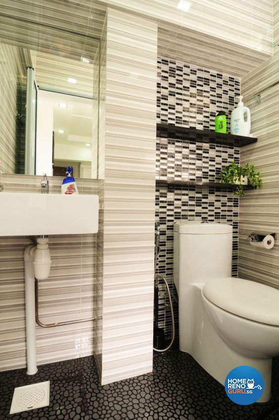 Contemporary, Modern Design - Bathroom - HDB 5 Room - Design by U-Home Interior Design Pte Ltd