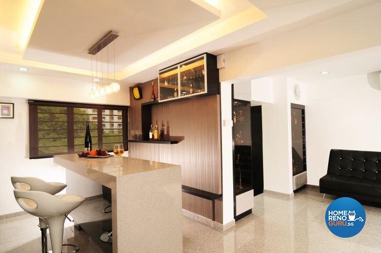 Contemporary, Modern Design - Entertainment Room - HDB 5 Room - Design by U-Home Interior Design Pte Ltd