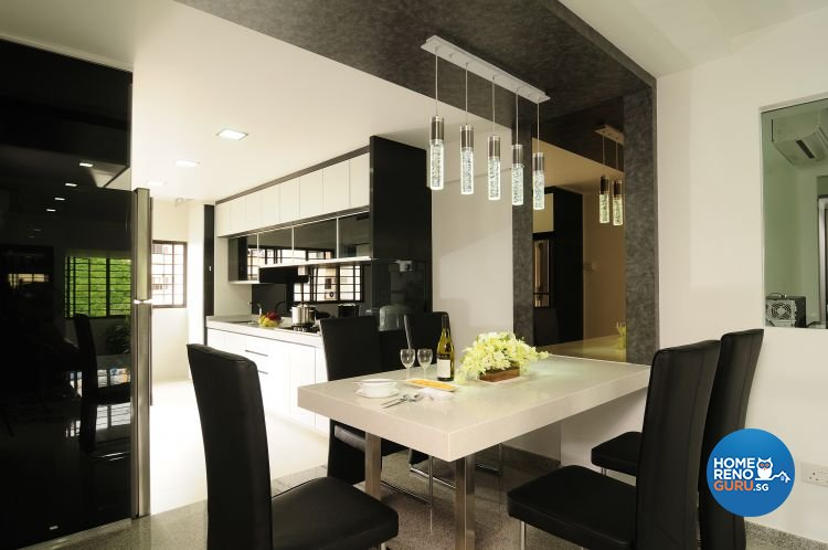 Contemporary, Modern Design - Dining Room - HDB 5 Room - Design by U-Home Interior Design Pte Ltd