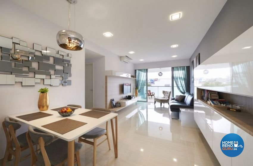 Minimalist, Modern Design - Dining Room - Condominium - Design by U-Home Interior Design Pte Ltd