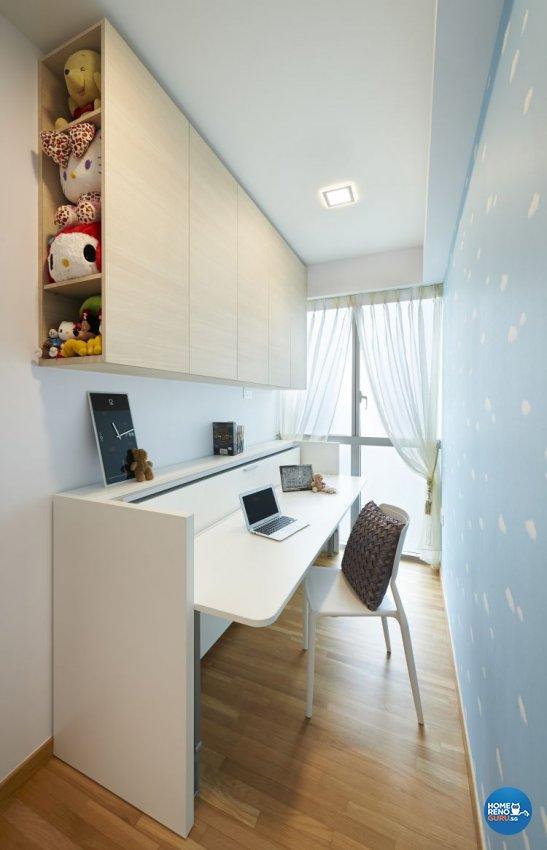 Minimalist, Modern Design - Study Room - Condominium - Design by U-Home Interior Design Pte Ltd