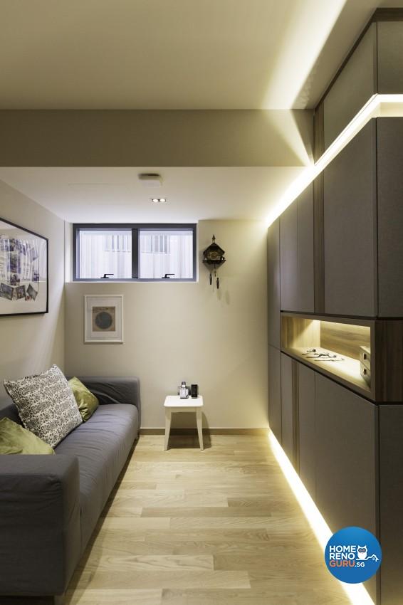 Contemporary, Modern Design - Living Room - Landed House - Design by U-Home Interior Design Pte Ltd