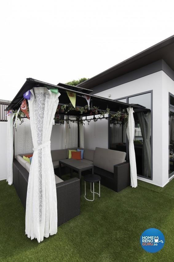 Contemporary, Modern Design - Balcony - Landed House - Design by U-Home Interior Design Pte Ltd