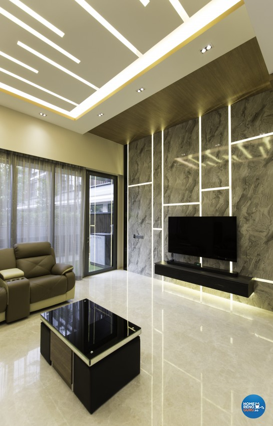 Contemporary, Modern Design - Living Room - Landed House - Design by U-Home Interior Design Pte Ltd