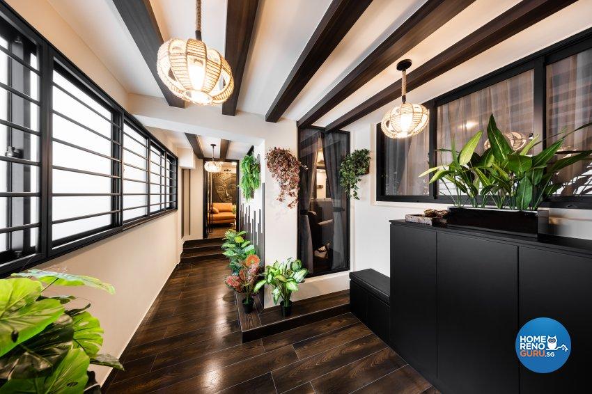 Contemporary, Modern Design - Balcony - HDB Executive Apartment - Design by U-Home Interior Design Pte Ltd