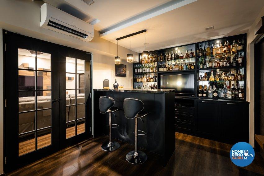 Contemporary, Modern Design - Entertainment Room - HDB Executive Apartment - Design by U-Home Interior Design Pte Ltd