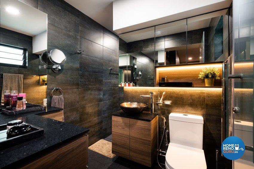 Contemporary, Modern Design - Bathroom - HDB Executive Apartment - Design by U-Home Interior Design Pte Ltd