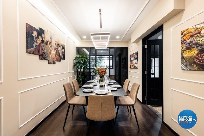 Contemporary, Modern Design - Dining Room - HDB Executive Apartment - Design by U-Home Interior Design Pte Ltd