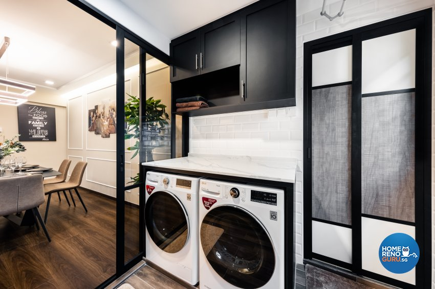 Contemporary, Modern Design - Kitchen - HDB Executive Apartment - Design by U-Home Interior Design Pte Ltd