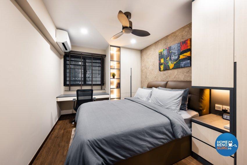 Contemporary, Modern Design - Bedroom - HDB Executive Apartment - Design by U-Home Interior Design Pte Ltd