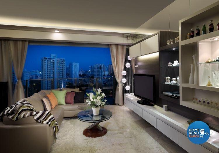 Contemporary, Modern Design - Living Room - Condominium - Design by Ultimate Interior Creation Pte Ltd