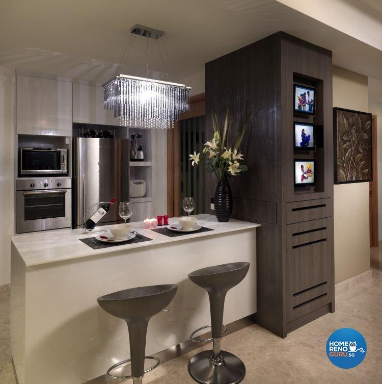Contemporary, Modern Design - Kitchen - Condominium - Design by Ultimate Interior Creation Pte Ltd