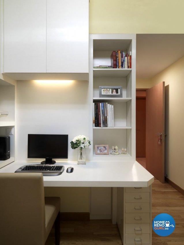 Contemporary, Modern Design - Study Room - Condominium - Design by Ultimate Interior Creation Pte Ltd