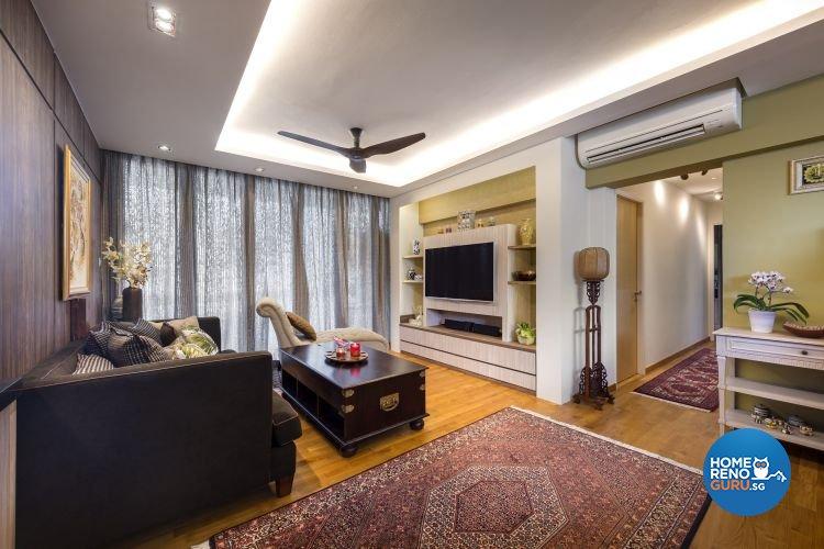 Rustic, Tropical Design - Living Room - Condominium - Design by Ultimate Interior Creation Pte Ltd
