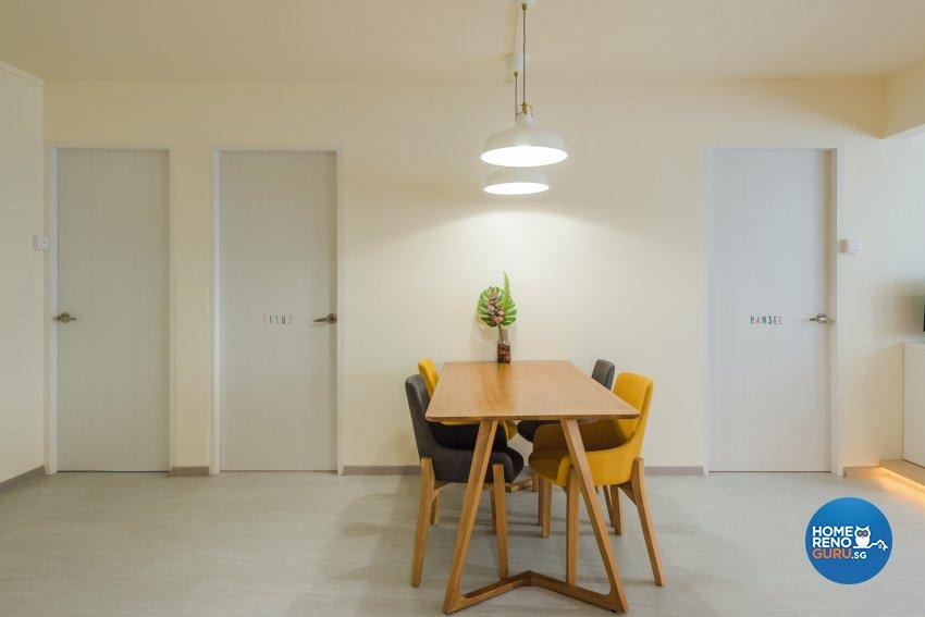 Minimalist, Modern, Scandinavian Design - Dining Room - HDB 5 Room - Design by DAP Atelier