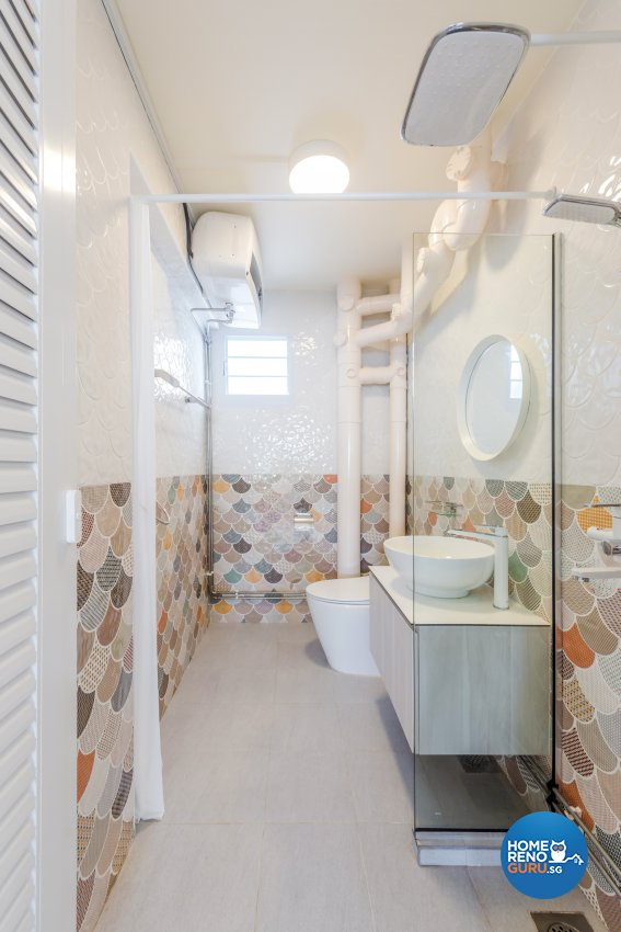Minimalist, Modern, Scandinavian Design - Bathroom - HDB 5 Room - Design by DAP Atelier