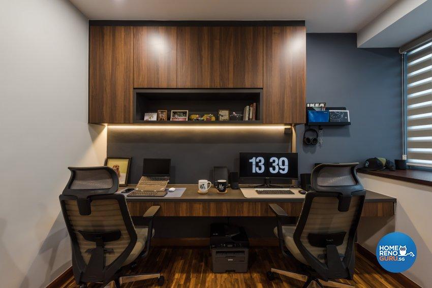 Contemporary, Minimalist, Modern Design - Study Room - Condominium - Design by DAP Atelier