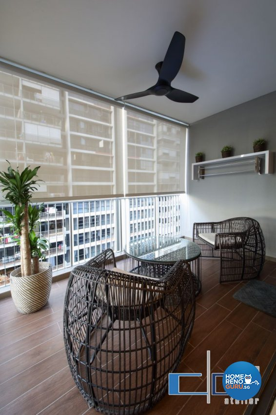 Modern, Resort, Tropical Design - Balcony - Condominium - Design by DAP Atelier