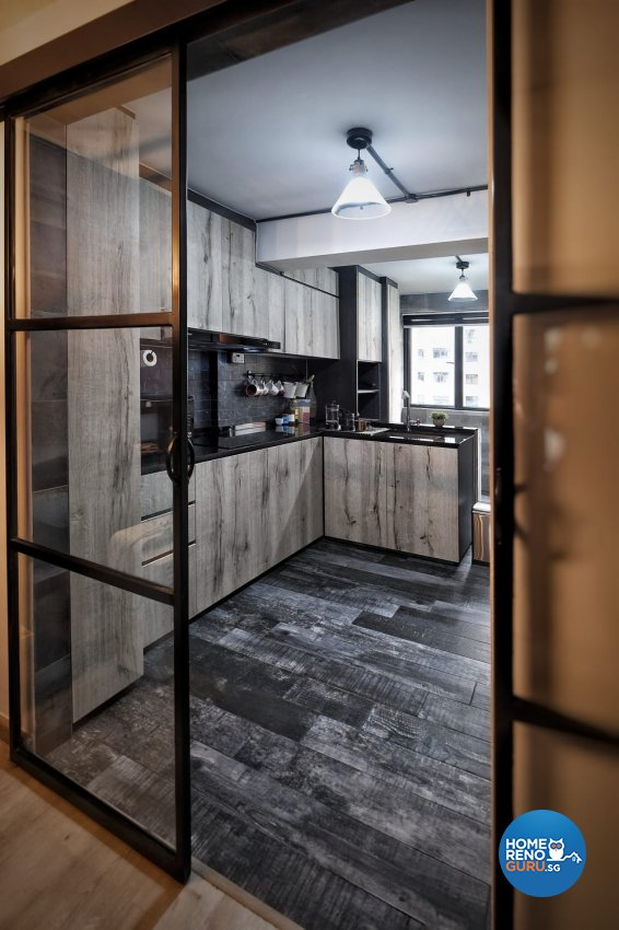 Industrial, Rustic Design - Kitchen - HDB 3 Room - Design by United Team Lifestyle