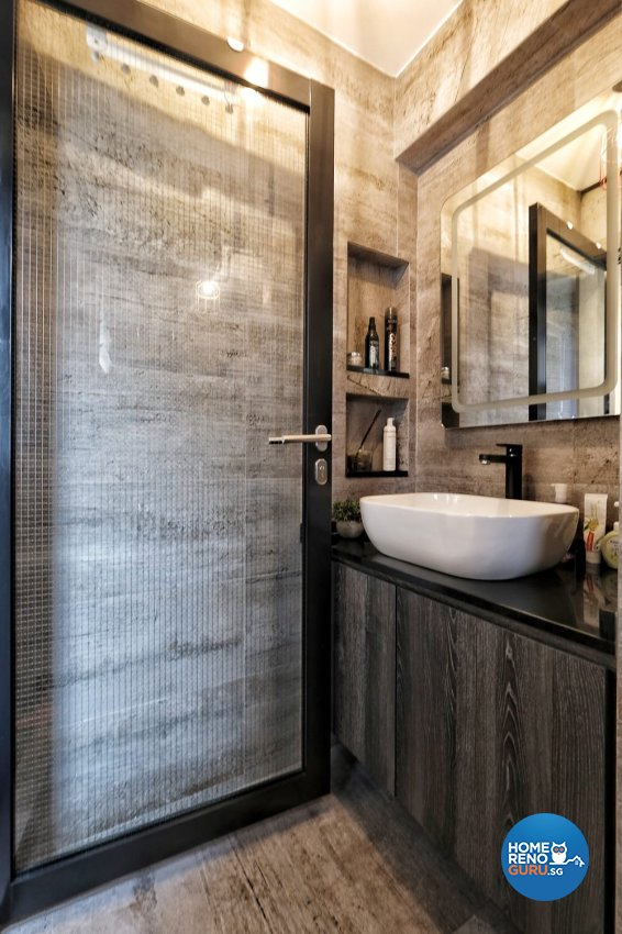 Industrial, Rustic Design - Bathroom - HDB 3 Room - Design by United Team Lifestyle