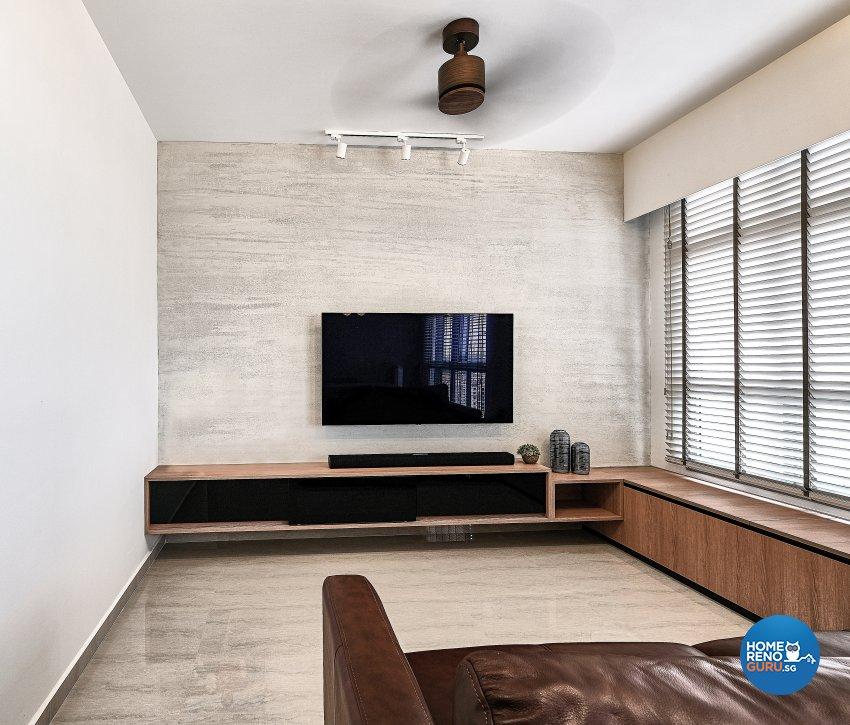Contemporary, Minimalist, Modern Design - Living Room - HDB 4 Room - Design by United Team Lifestyle