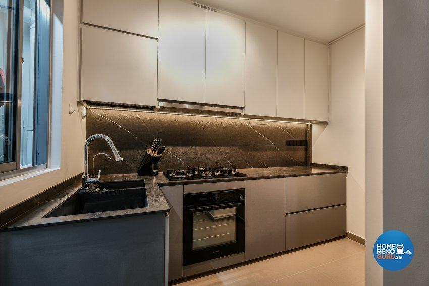 Contemporary, Minimalist, Modern Design - Kitchen - HDB 4 Room - Design by United Team Lifestyle