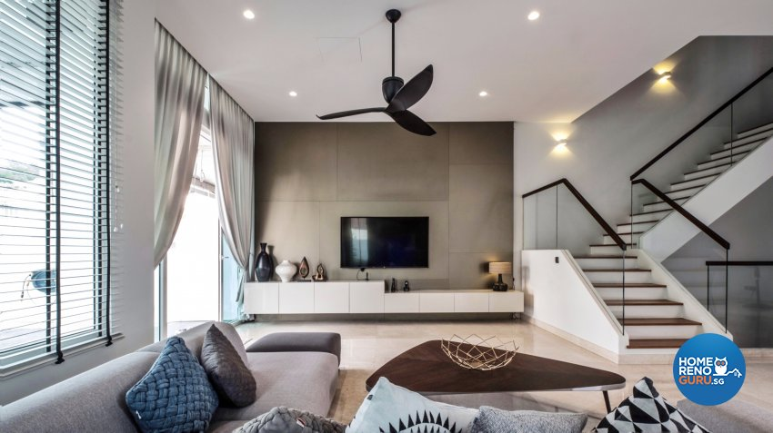 Contemporary, Modern Design - Living Room - Landed House - Design by United Team Lifestyle