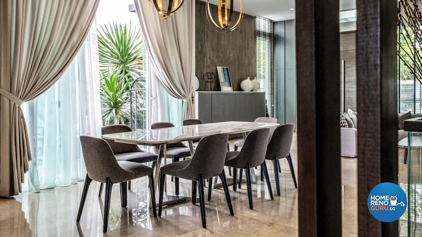 Contemporary, Modern Design - Dining Room - Landed House - Design by United Team Lifestyle