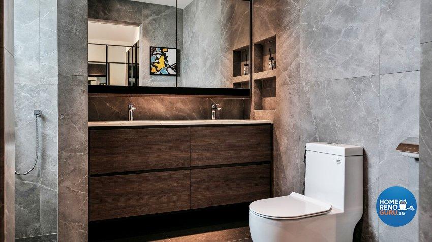 Contemporary, Modern Design - Bathroom - Landed House - Design by United Team Lifestyle