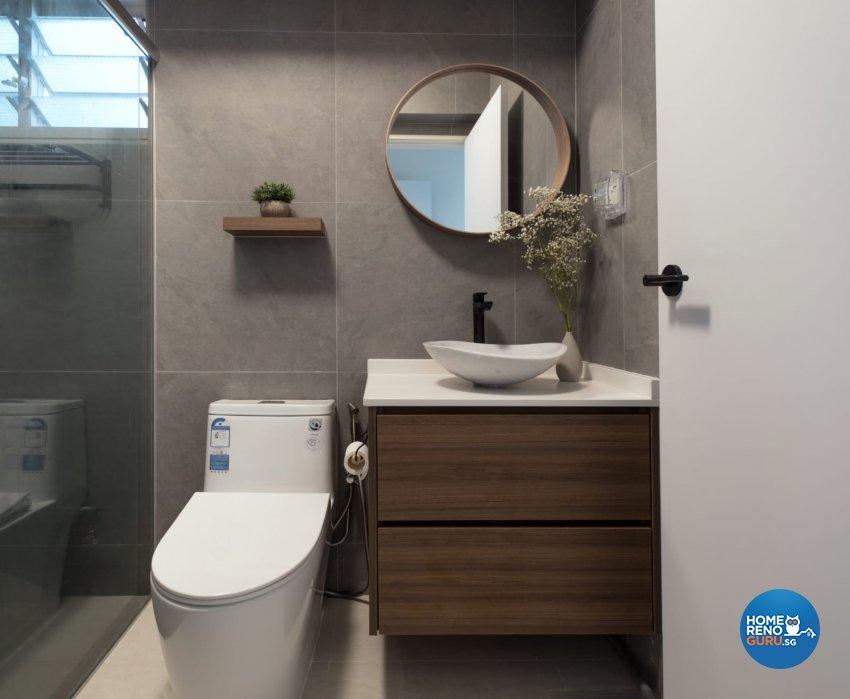 Contemporary, Minimalist, Modern Design - Bathroom - HDB 4 Room - Design by United Team Lifestyle