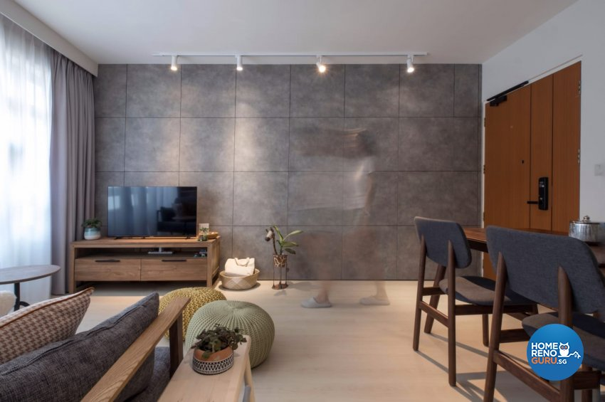 Contemporary, Minimalist, Modern Design - Living Room - HDB 4 Room - Design by United Team Lifestyle