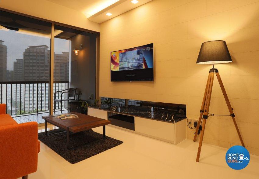 Country, Modern Design - Living Room - Condominium - Design by United Team Lifestyle