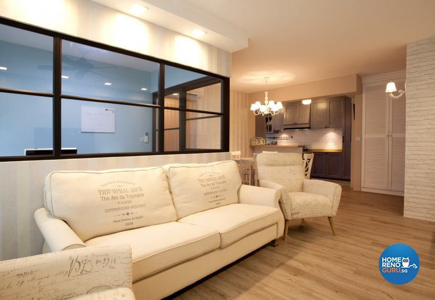 Contemporary, Mediterranean, Scandinavian Design - Living Room - HDB 4 Room - Design by United Team Lifestyle