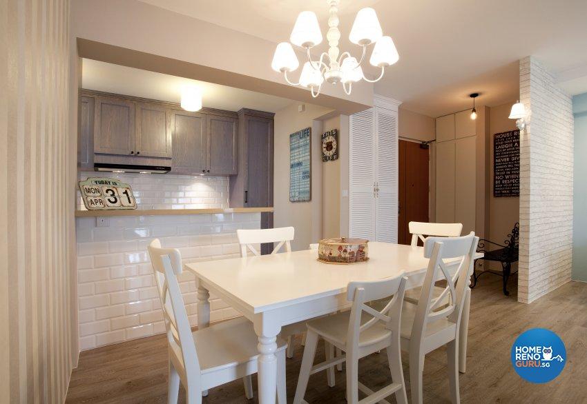 Contemporary, Mediterranean, Scandinavian Design - Dining Room - HDB 4 Room - Design by United Team Lifestyle