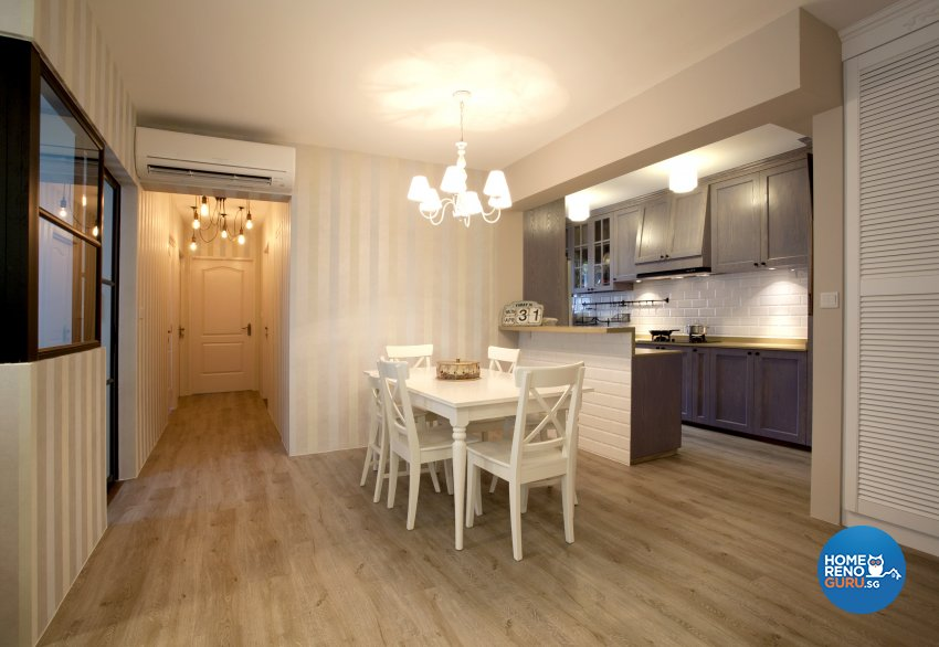 Contemporary, Mediterranean, Scandinavian Design - Dining Room - HDB 4 Room - Design by United Team Lifestyle