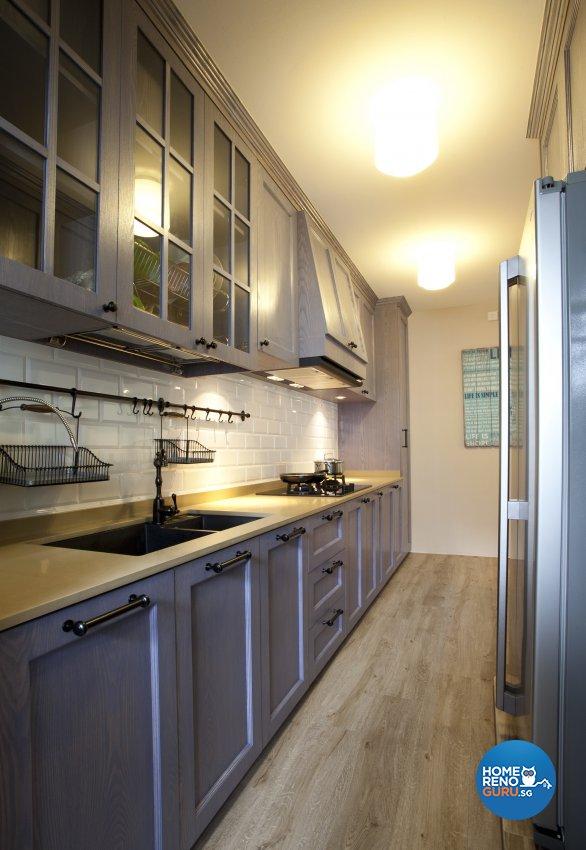 Contemporary, Mediterranean, Scandinavian Design - Kitchen - HDB 4 Room - Design by United Team Lifestyle