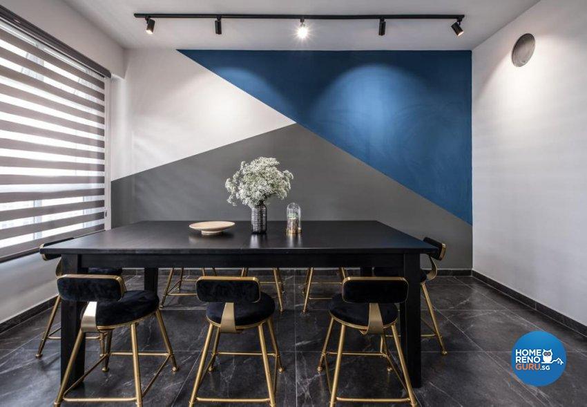 Contemporary, Mediterranean, Modern Design - Dining Room - HDB 5 Room - Design by United Team Lifestyle